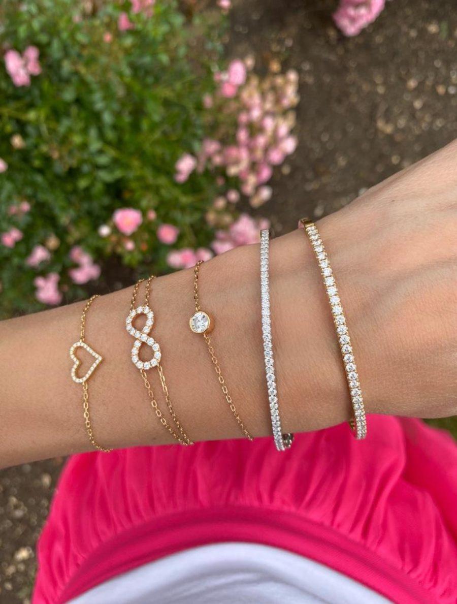 Open Heart Diamond Bracelet