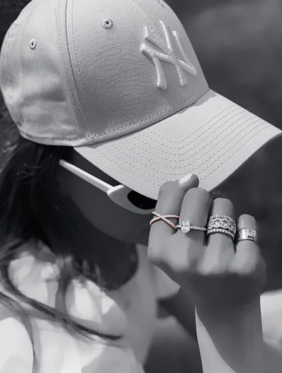 Small Diamond Crisscross Ring