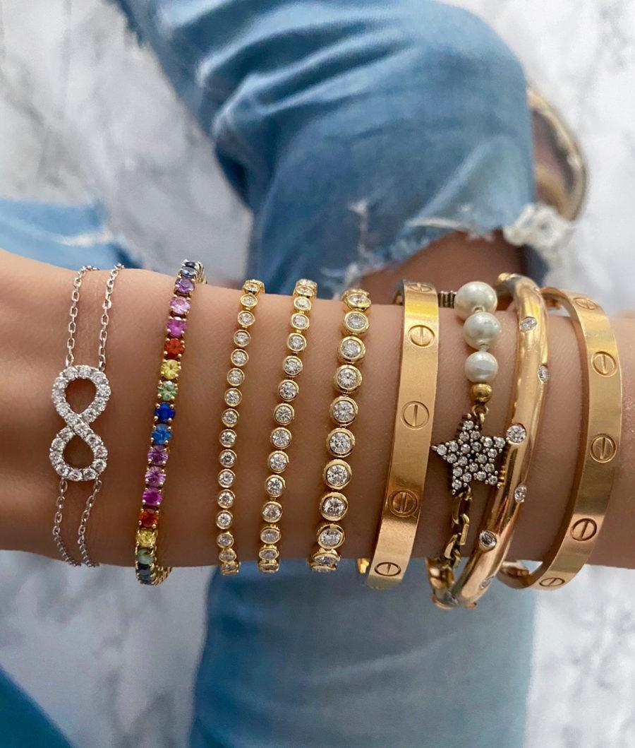 Rubover Diamond Tennis Bracelet
