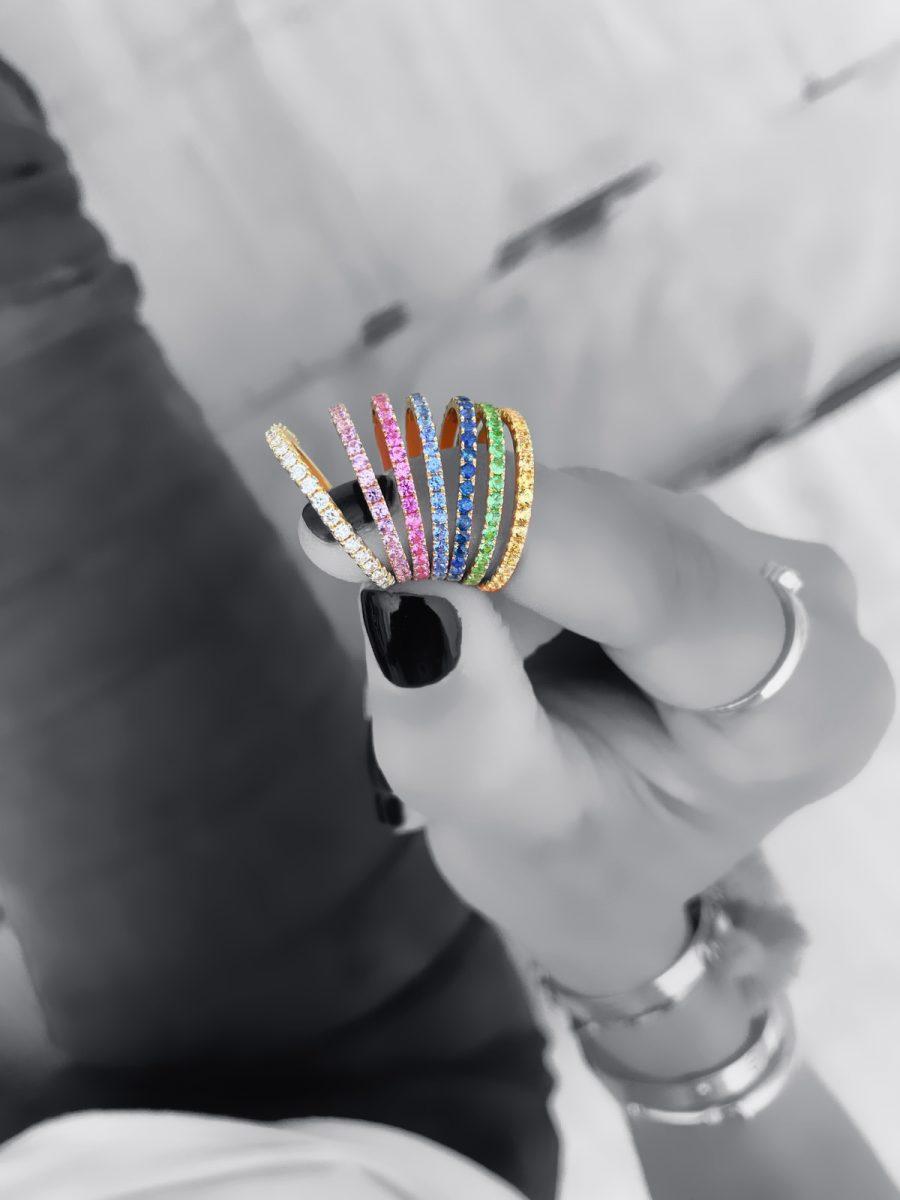 Rainbow Stack Ring