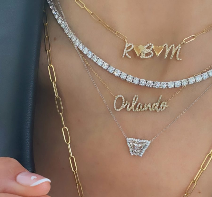 Diamond Initial and Charm Necklace
