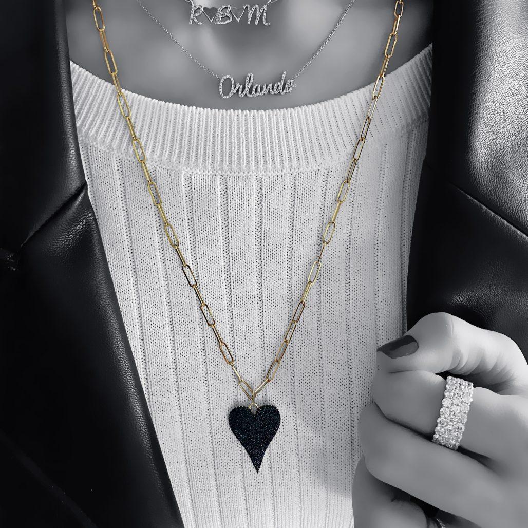 Black Diamond Heart Charm-paris-filter