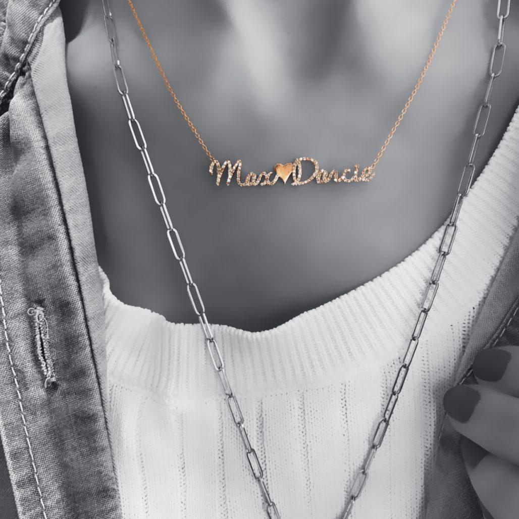 Pave Name and Charm Necklace-paris-filter