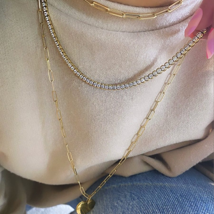 Rubover Diamond Tennis Necklace