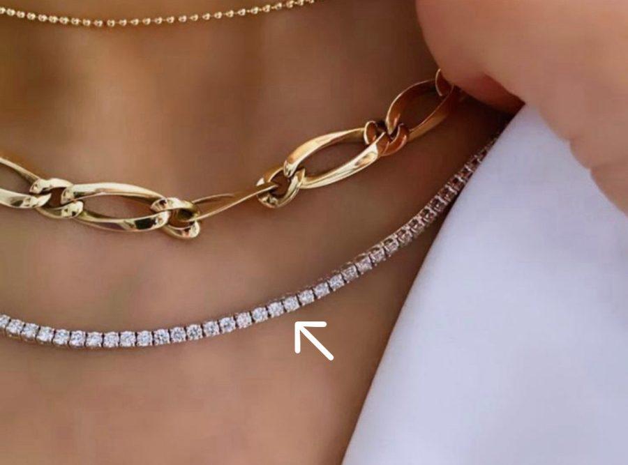 Fine Diamond Tennis Necklace